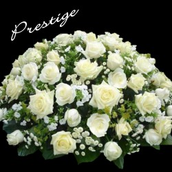 PARIS FUNÉRAL ARRANGEMENT - WHITE PRESTIGE CUSHION