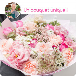 BOUQUET DEUIL PARIS - BOUQUET DU FLEURISTE ROSE