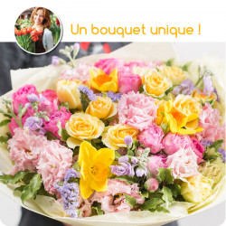 BOUQUET DEUIL PARIS - BOUQUET DU FLEURISTE MULTICOLORE
