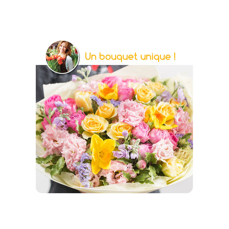 PARIS FUNÉRAL FLOWERS - FLORIST COLORED BOUQUET