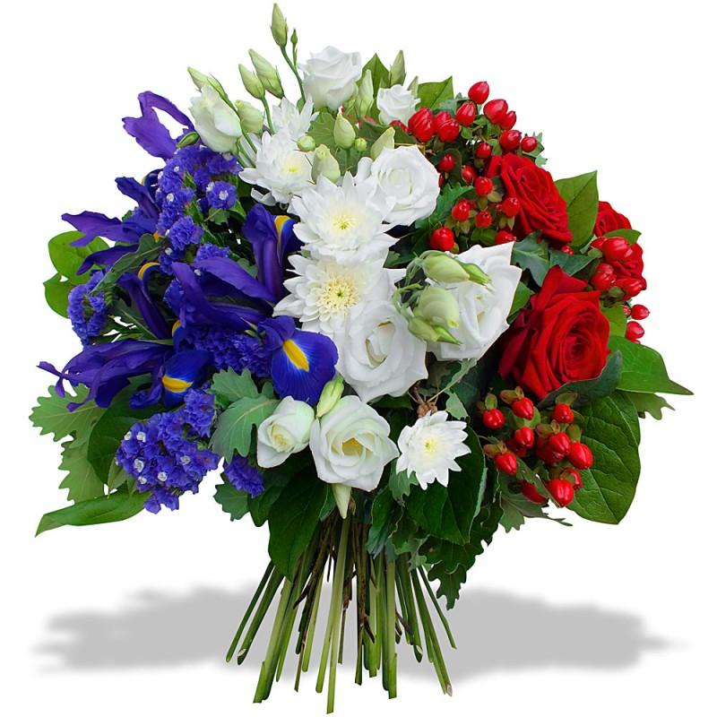 PARIS FUNÉRAL FLOWERS - BLEU BLANC ROUGE