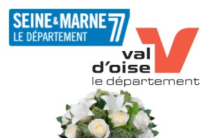Sympathy flowers delivery  VAL D'OISE 95 and SEINE ET MARNE 77