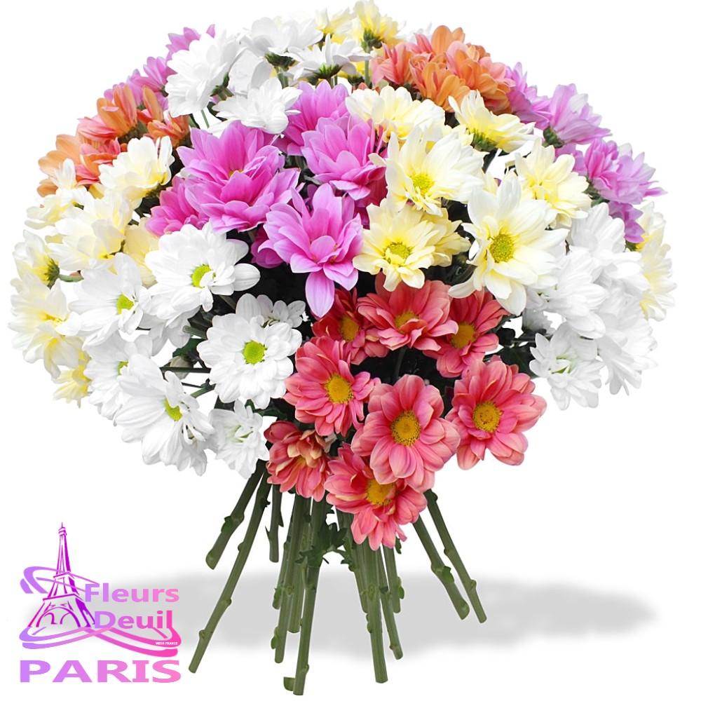 bouquet fleurs deuil CROSNE