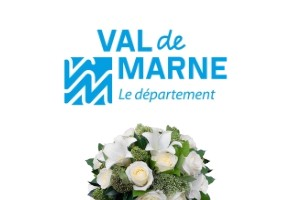 Delivery of sympathy flowers in Val de Marne