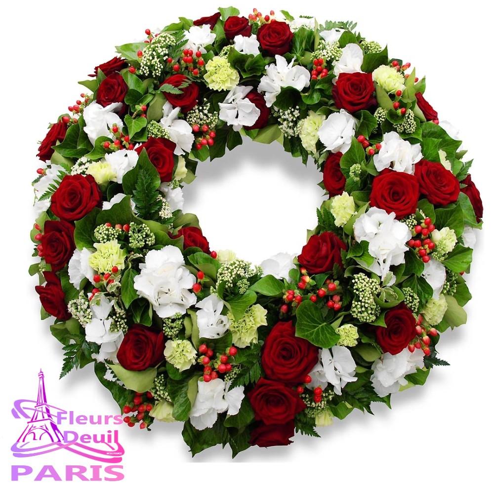 COURONNE FLEURS DEUIL PARIS