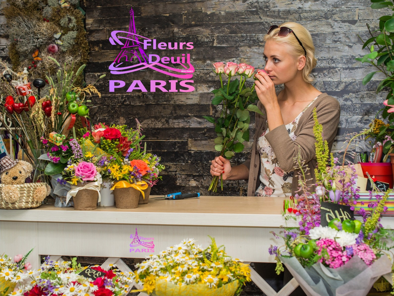 SYMPATHY FLOWERS DELIVERY IN PARIS