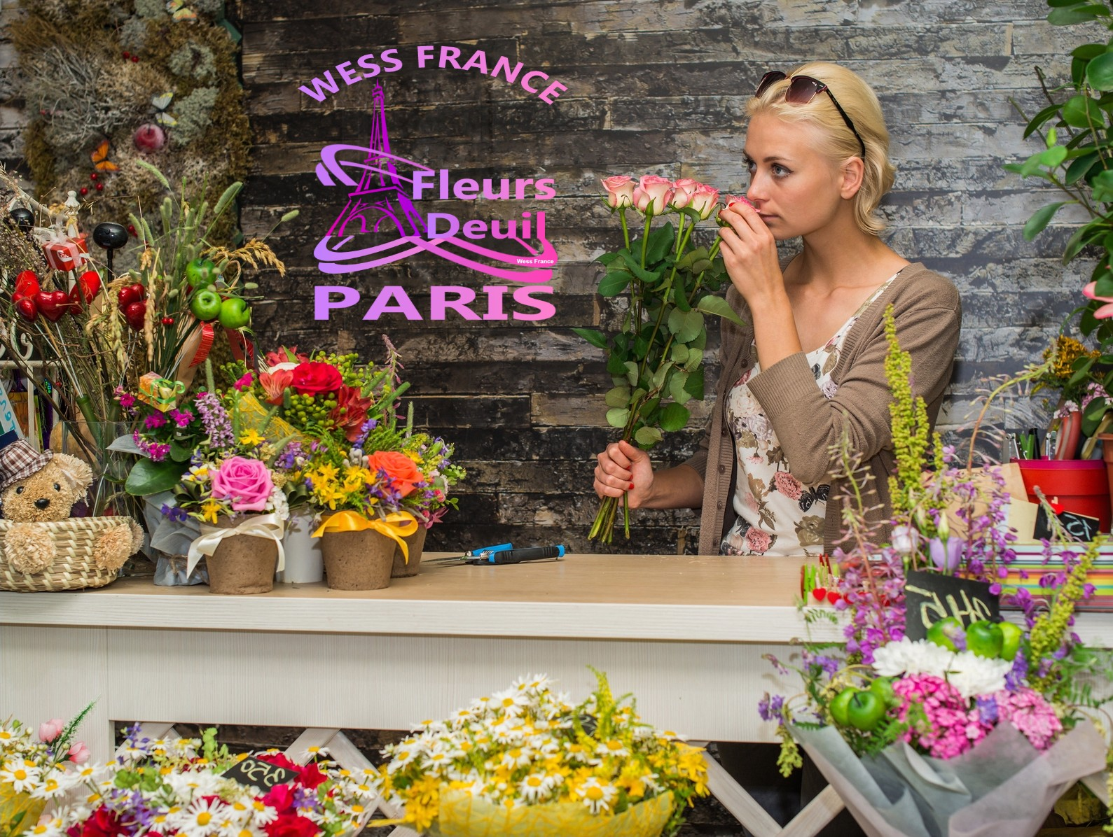 SYMPATHY FLOWERS DELIVERY IN PARIS 3