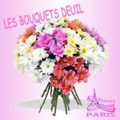 BOUQUET DE FLEURS DEUIL PARIS