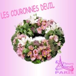 COURONNE DE FLEURS DEUIL PARIS
