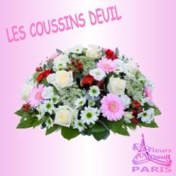 COUSSIN DE FLEURS DEUIL PARIS