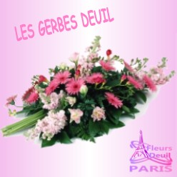 GERBE DE FLEURS DEUIL PARIS