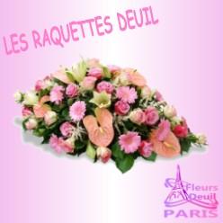 RAQUETTE FLEURS DEUIL PARIS